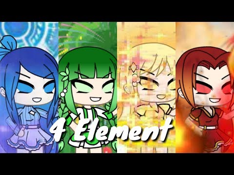 4 Element Api,air,sinar Dan Tanaman(Gacha Life)//original Movie//