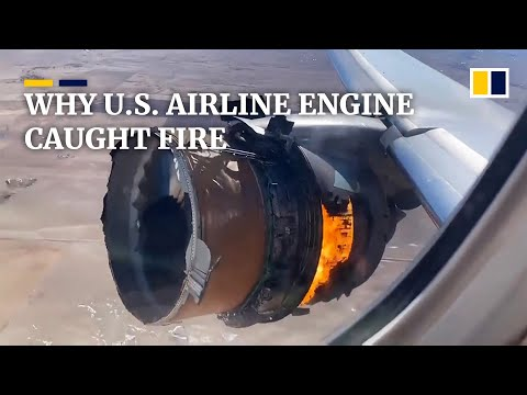 Plane engine that caught fire on United Airlines flight showed signs of 'metal fatigue'