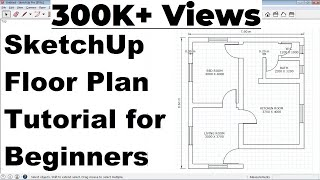 SketchUp Floor Plan Tutorial for Beginners screenshot 3