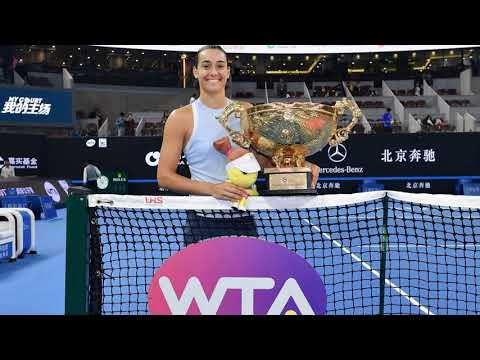 Caroline Garcia pulls off Halep upset to win China Open
