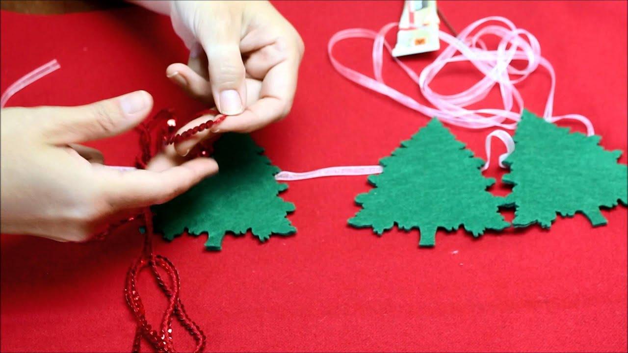 C mo hacer una guirnalda para decorar tu rbol de navidad - Como hacer cosas de navidad ...
