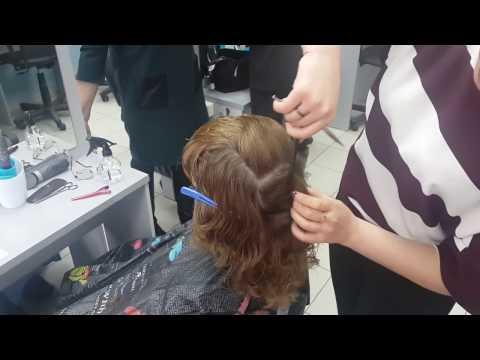 Как стрижется каскад на средние волосы видео