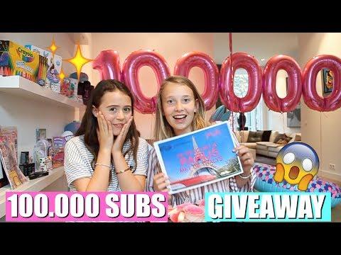 100.000 SUBS MEGA GIVEAWAY PARTY! | GIRLYS BLOG