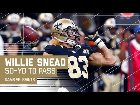 Willie Snead Throws a 50-Yard TD Pass to Tim Hightower | 🚨Trick Play Alert🚨| Rams vs. Saints | NFL