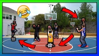 2HYPE BASKETBALL SHOOTING OBSTACLE COURSE !!