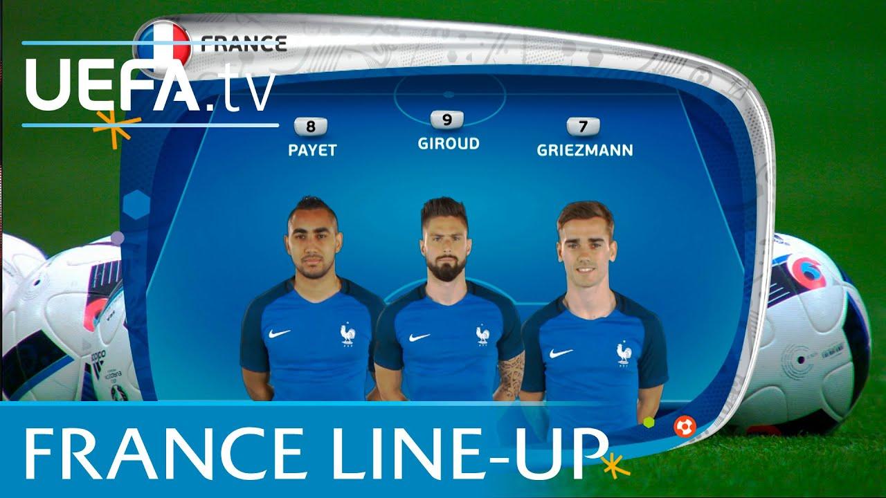 Resultado de imagem para France lineup v Romania: UEFA EURO 2016