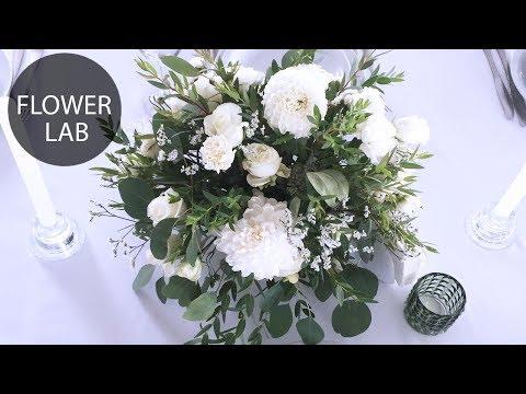 how-to-make-flower-arrangement-|-diy-white-wedding-bouquet