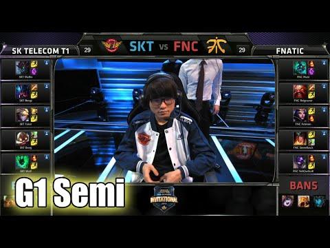 SK Telecom T1 vs Fnatic   Game 1 Semi Finals Mid Season Invitational 2015   SKT vs FNC G1 MSI 60FPS