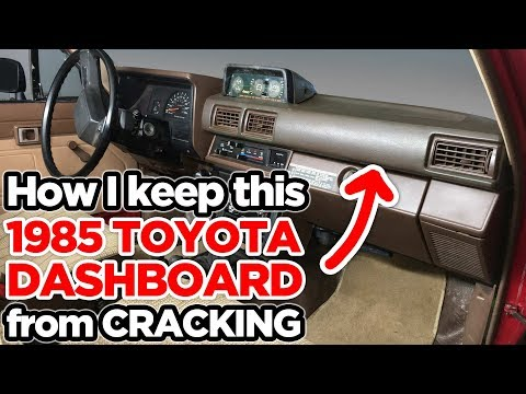 How I Prevent Cracks On My '85 Toyota's Dashboard