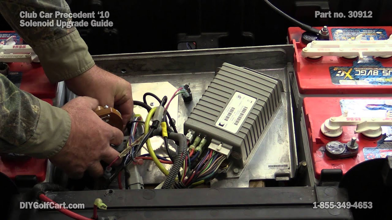 Club Car Precedent Heavy Duty Solenoid Upgrade | How to Install on Golf Cart  YouTube