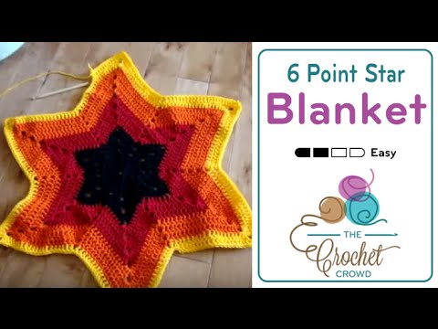 Crochet 6 Point Star Afghan Youtube