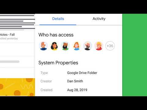 Organize and share individual and team content with Google Drive