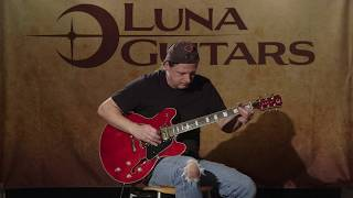 Athena 501 Semi Hollowbody in Trans Red
