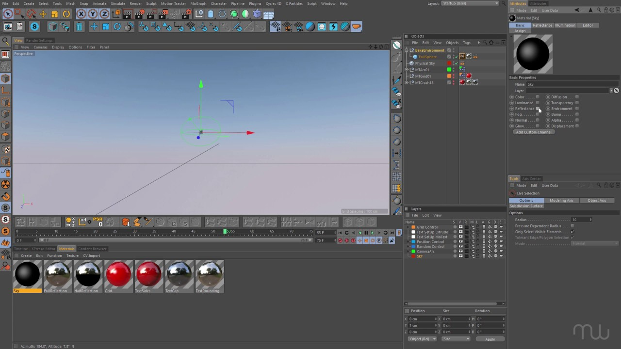 Baking the Physical Sky in Cinema 4D