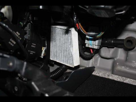 Renault Latitude Как заменить воздушный фильтр салона