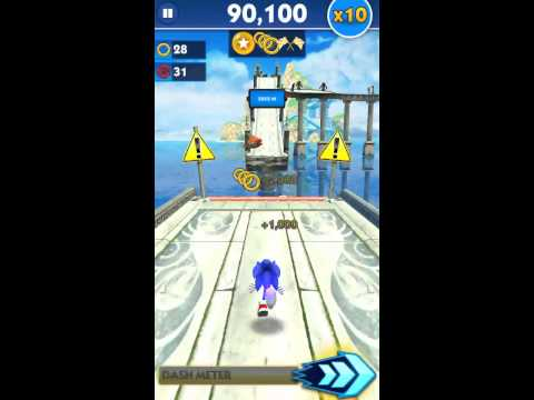 Sonic Dash - 347,587 points with Sonic (x10 multiplier)