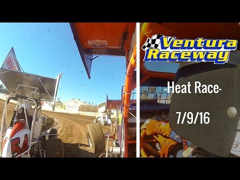 California Lightning Sprint at Ventura Raceway -Heat Race- 7/9/16