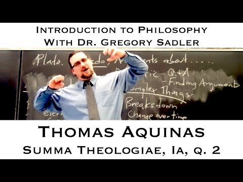 Thomas Aquinas, Summa Theologiae. Prima Pars, question 2  - Introduction to Philosophy