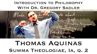 Thomas Aquinas, Summa Theologiae. Prima Pars, question 2  - Introduction to Philosophy thumbnail