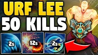 WHEN A MASTER LEE SIN DROPS 50 KILLS IN URF MODE... | INSANE URF LEE SIN PLAYS - League of Legends