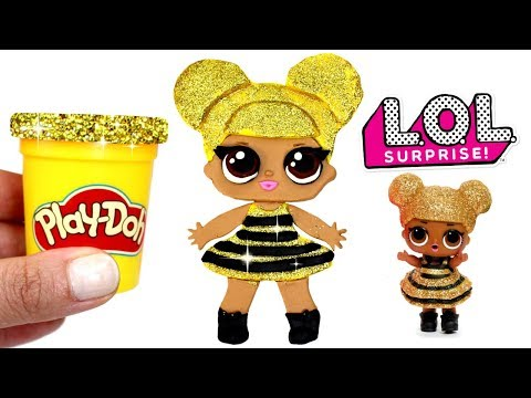 Play Doh LOL Surprise Doll Making Queen Bee with Play Doh & Clay Rose Creative Crafts for Girls
