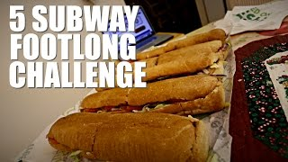5 SUBWAY FOOTLONG CHALLENGE