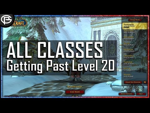 WoW Classic - All Classes Compared To Get Past 20