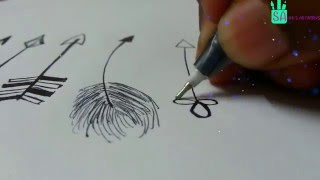 How To Draw Tribal Arrows|Vector Arrows - 10 Different ways