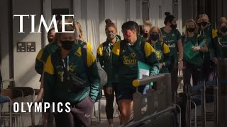 First Athletes Arrive at the Tokyo Olympics Amid a Pandemic