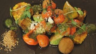 Печеные овощи с соусом Песто. Рецепт от шеф-повара.