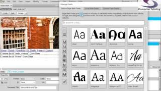 تغيير الخط بين أفراد الأسرة و لون الخلفية - كيفية إنشاء موقع من الصفر في Dreamweaver الجزء 6