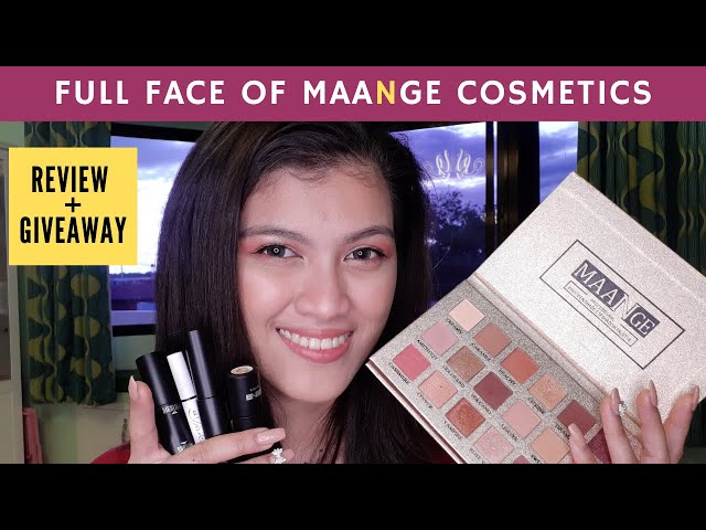 MAANGE Cosmetics REVIEW + GIVEAWAY!
