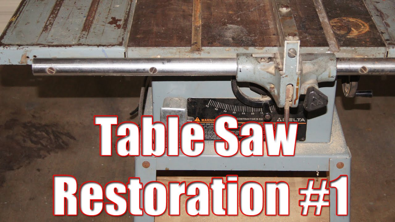 Table saw restoration part 1 - YouTube