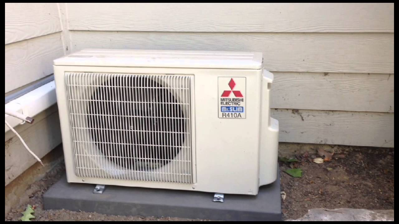 Mitsubishi Ductless Mitsubishi 4 Port Ductless Heat Pump Youtube
