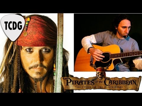How To Play Pirates Of The Caribbean On Acoustic Guitar: Easy Tab Lesson / Tutorial TCDG