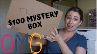 $100 MYSTERY BOX UNBOXING....I CAN'T BELIEVE HOW GOOD THIS IS!!!