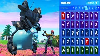*NEW* Fortnite B.R.U.T.E. Mech Skin Showcase with All Dances & Emotes
