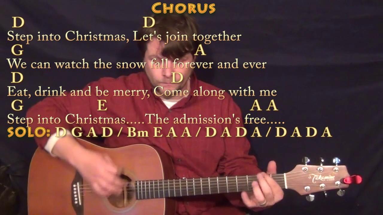 Elton John Step Into Christmas.Step Into Christmas Elton John Guitar Lesson Chord Chart With Chords Lyrics
