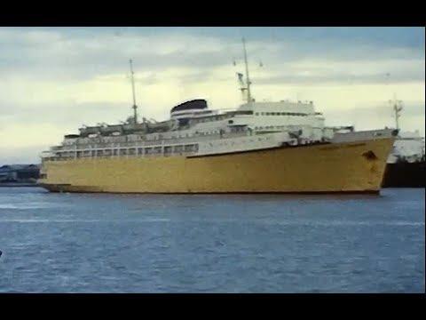 Princess of Tasmania arriving Webb Dock Melbourne 1960s