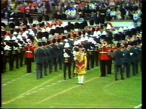 The massed bands on THE SILVER JUBILEE 1977 IN THE OLD WEMBLEY STADIUM