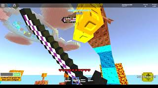 Playing 4 games of Skywars ROBLOX
