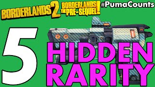 top 5 hidden weapon and gear rarity in borderlands 2 and the pre sequel pumacounts