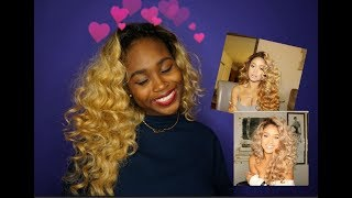 JILLY ANAIS LOOSE CURLS | ft. Outre Ashani Half Wig
