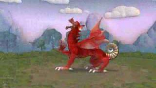 spore recreation y ddraig goch