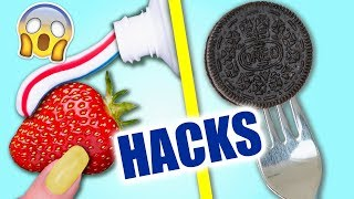 15 LIFE HACKS MIT FOOD + AMAZON GADGETS HAUL 2018 | KINDOFROSY