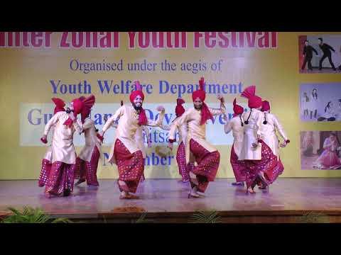 Khalsa College Amritsar Jhumar Interzonal Youthfestival 2018