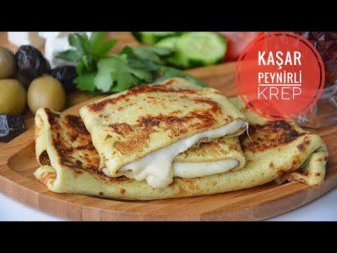 Kahvaltılık Kaşar Peynirli Krep Tarifi( Tam Ölçüleriyle Krep Tarifi)