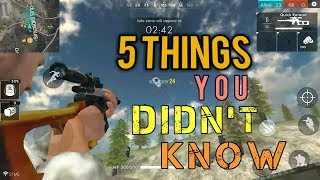5 Things you didn't know you could do in Free Fire Battlegrounds [English]