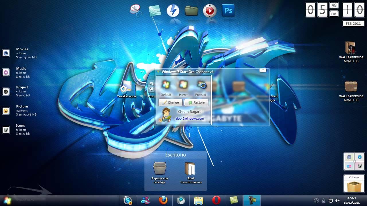 Aplicaciones utiles para personalizar Windows 7 - YouTube