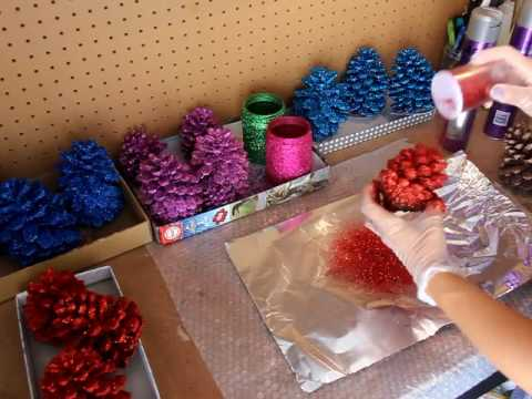 Как обработать шишки для декора